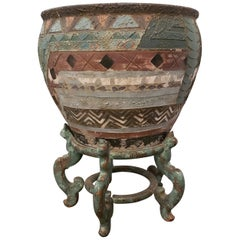 Antique Terracotta Planter on Stand
