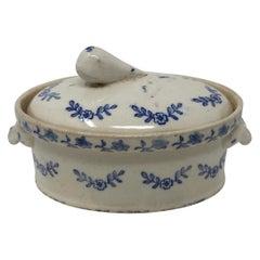 Antique Terre de Fonte Covered Casserole Dish