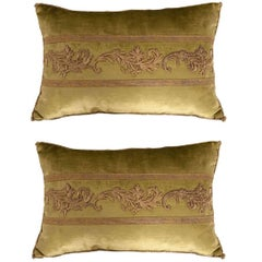 Antique Textile Pillows by B. Viz Design
