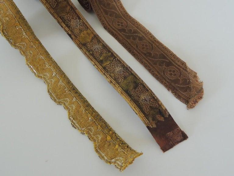 Art Deco Antique Textiles Collection of Decorative Trims For Sale