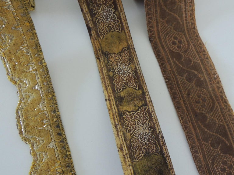 French Antique Textiles Collection of Decorative Trims For Sale