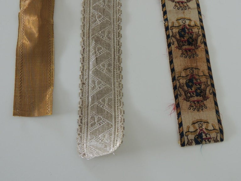 Hand-Crafted Antique Textiles Collection of Decorative Trims For Sale