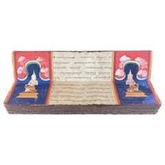 Antique Thai Buddhist Phra Malai Samut Khoi Illustrated Manuscript, 19th Century