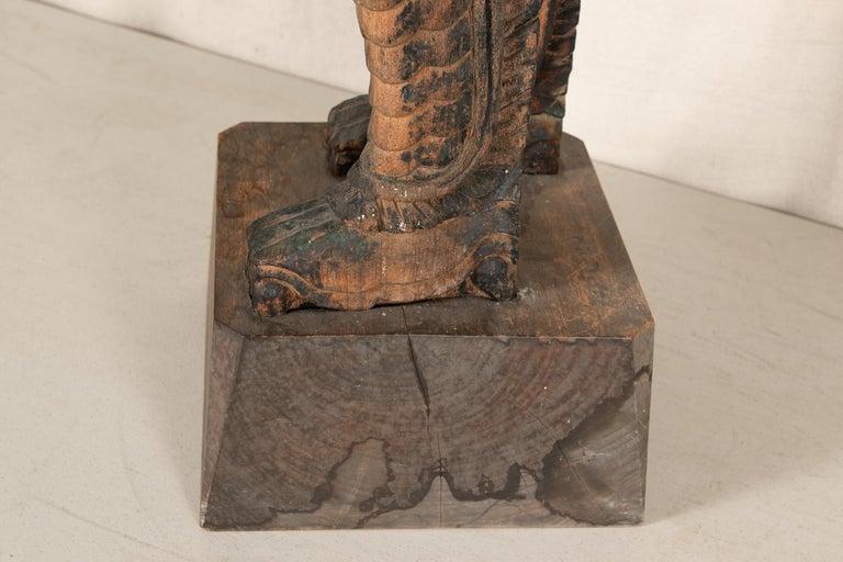 Antique Thai Carved Garuda Figure For Sale 5