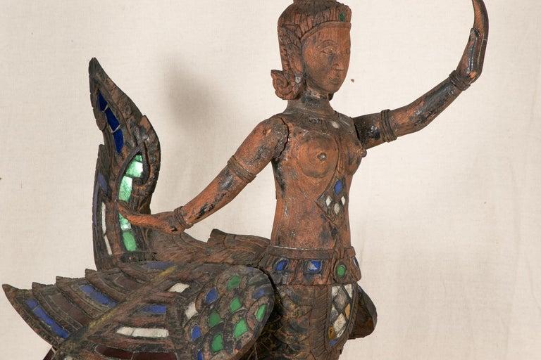Antique Thai Carved Garuda Figure For Sale 7