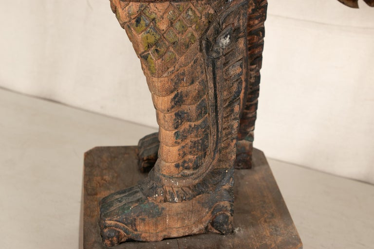 Antique Thai Carved Garuda Figure For Sale 8