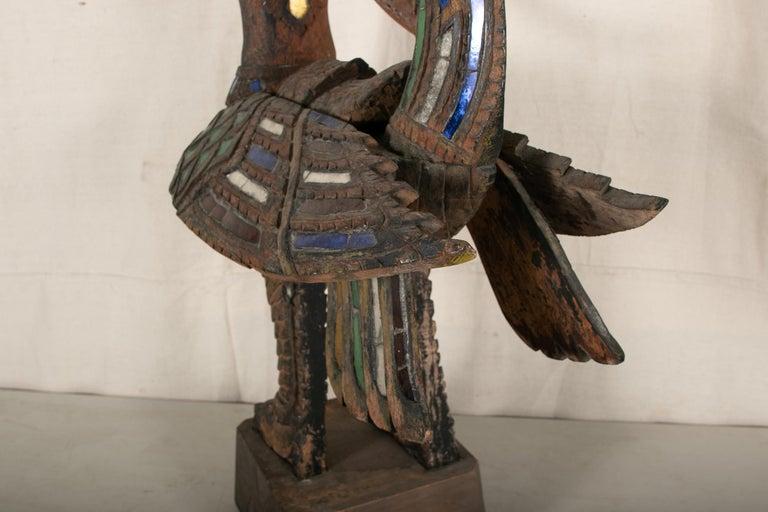 Antique Thai Carved Garuda Figure For Sale 10