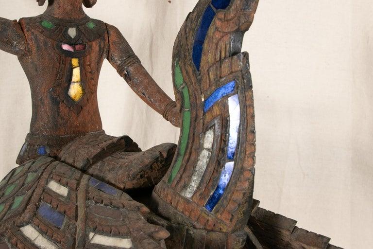 Antique Thai Carved Garuda Figure For Sale 12
