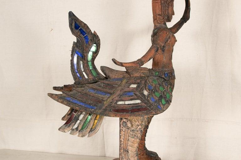 Antique Thai Carved Garuda Figure For Sale 1