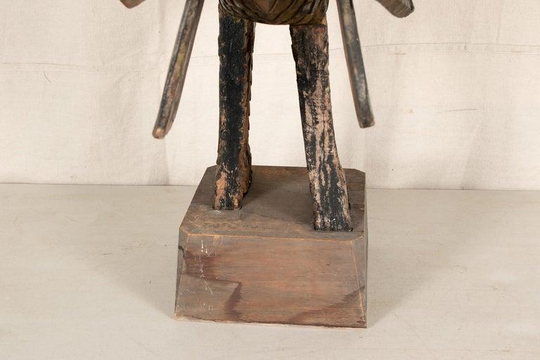 Antique Thai Carved Garuda Figure For Sale 2