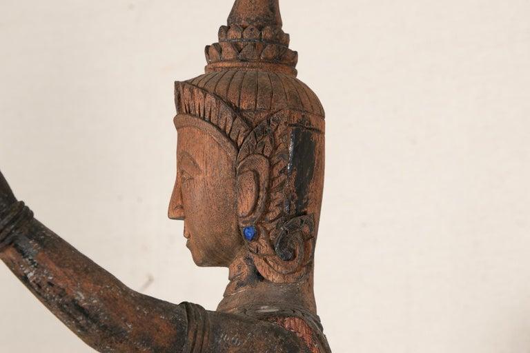Antique Thai Carved Garuda Figure For Sale 3