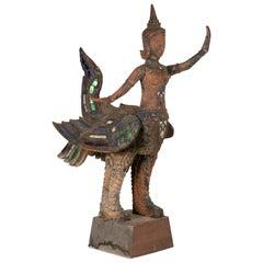 Antique Thai Carved Garuda Figure
