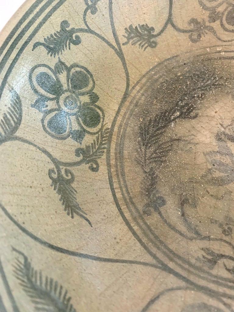 Antique Thai Celadon Stemmed Dish Sukhothai Sawankhalok For Sale 4