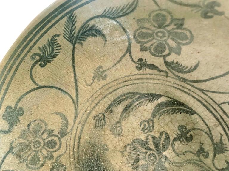 Antique Thai Celadon Stemmed Dish Sukhothai Sawankhalok For Sale 6