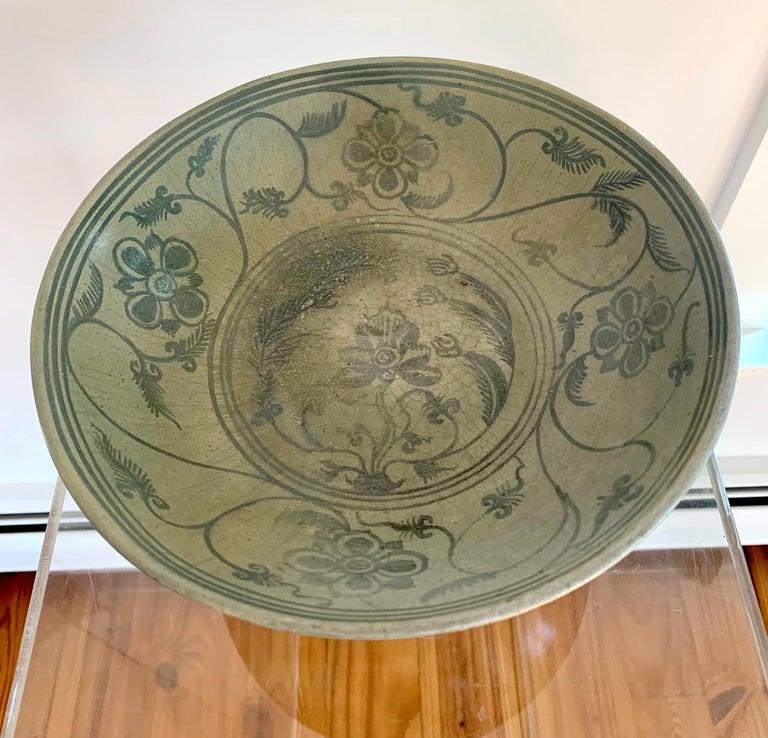 Antique Thai Celadon Stemmed Dish Sukhothai Sawankhalok For Sale 9