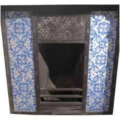 Antique Thomas Jeckyll Tiled fireplace Insert from Kelmscott Manor