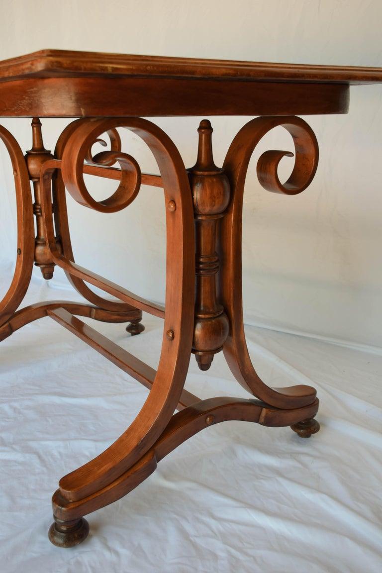 Art Nouveau Antique Thonet Bentwood Table For Sale