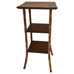 Antique Three-Tier Bamboo Stand