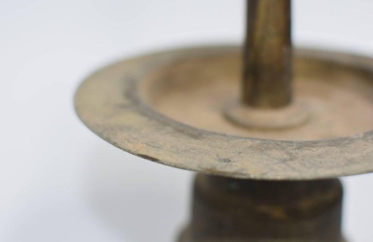 Antique Tibetan Bronze Oil Lamp For Sale 5