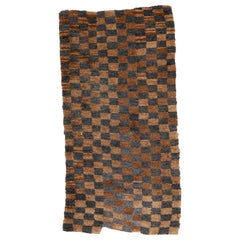 Antique Tibetan Chequerboard Design Rug