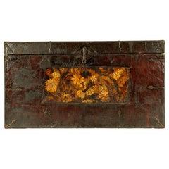 Antique Tibetan Wood Chest