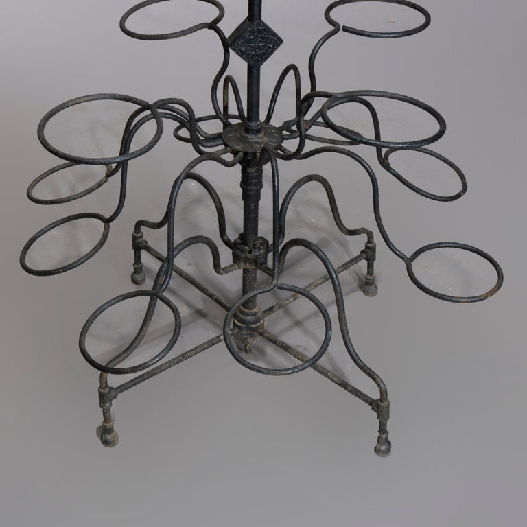 American Antique Tiered Wrought Iron Patio Garden Plant Display Stand, circa 1890 For Sale