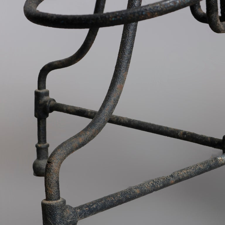 19th Century Antique Tiered Wrought Iron Patio Garden Plant Display Stand, circa 1890 For Sale
