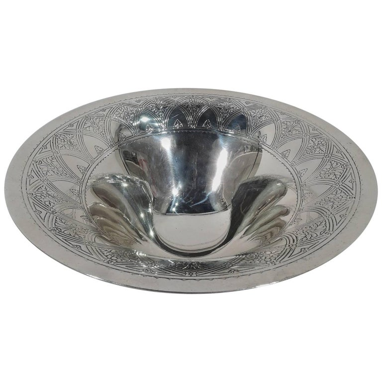 Antique Tiffany Art Deco Sterling Silver Centrepiece Bowl For Sale