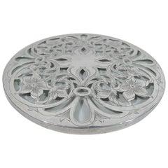 Antique Tiffany Art Nouveau Silver Overlay Trivet