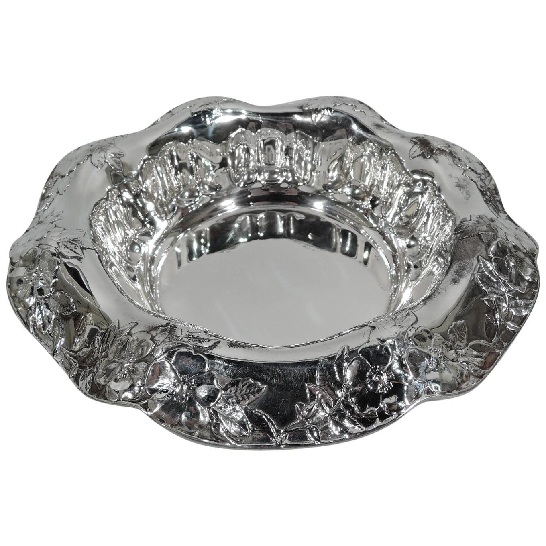 Antique Tiffany Art Nouveau Sterling Silver Flower Bowl