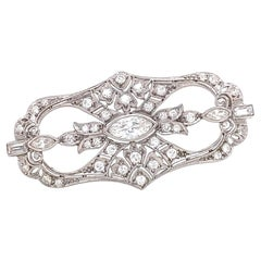 Antique Tiffany & Co. Diamond Platinum Brooch