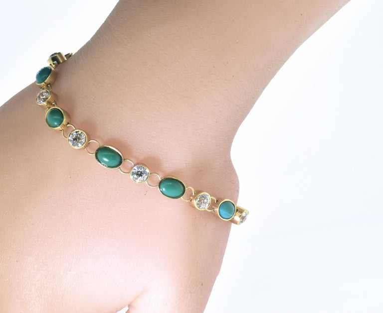 Antique Tiffany & Co. Gold, Diamond and Turquoise Bracelet, circa 1900 For Sale 4