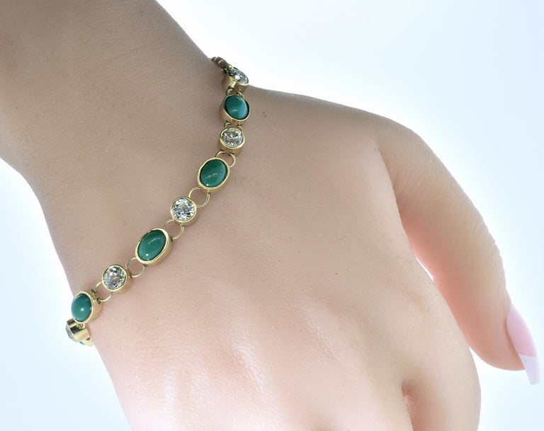 Antique Tiffany & Co. Gold, Diamond and Turquoise Bracelet, circa 1900 For Sale 2