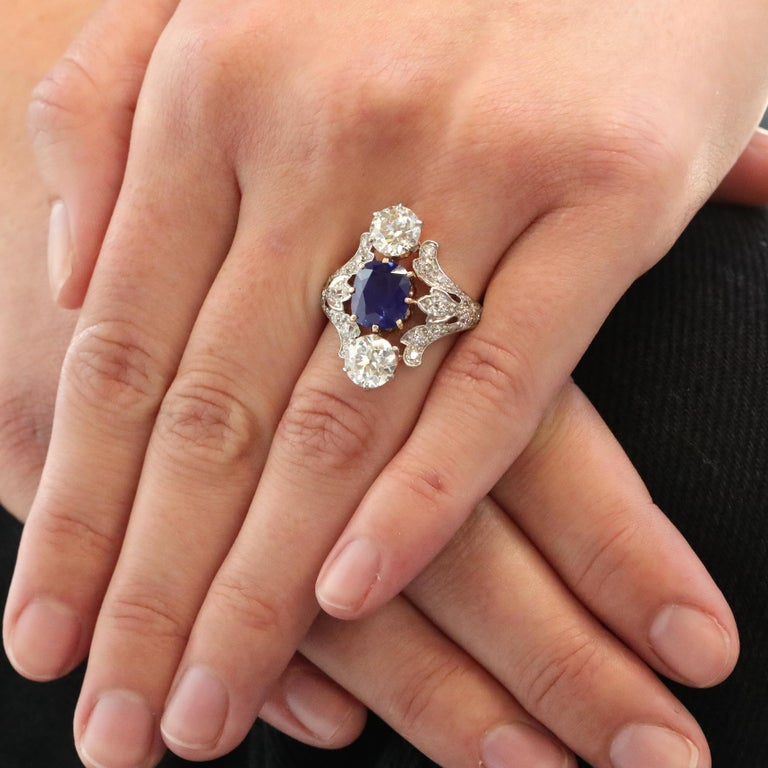 There are many renowned designs from the iconic jewelry house of Tiffany & Co. and this ring is no exception. Featuring a Kashmir Sapphire; the best in the world. There is only a finite number of them; the mine closed down years ago and what was