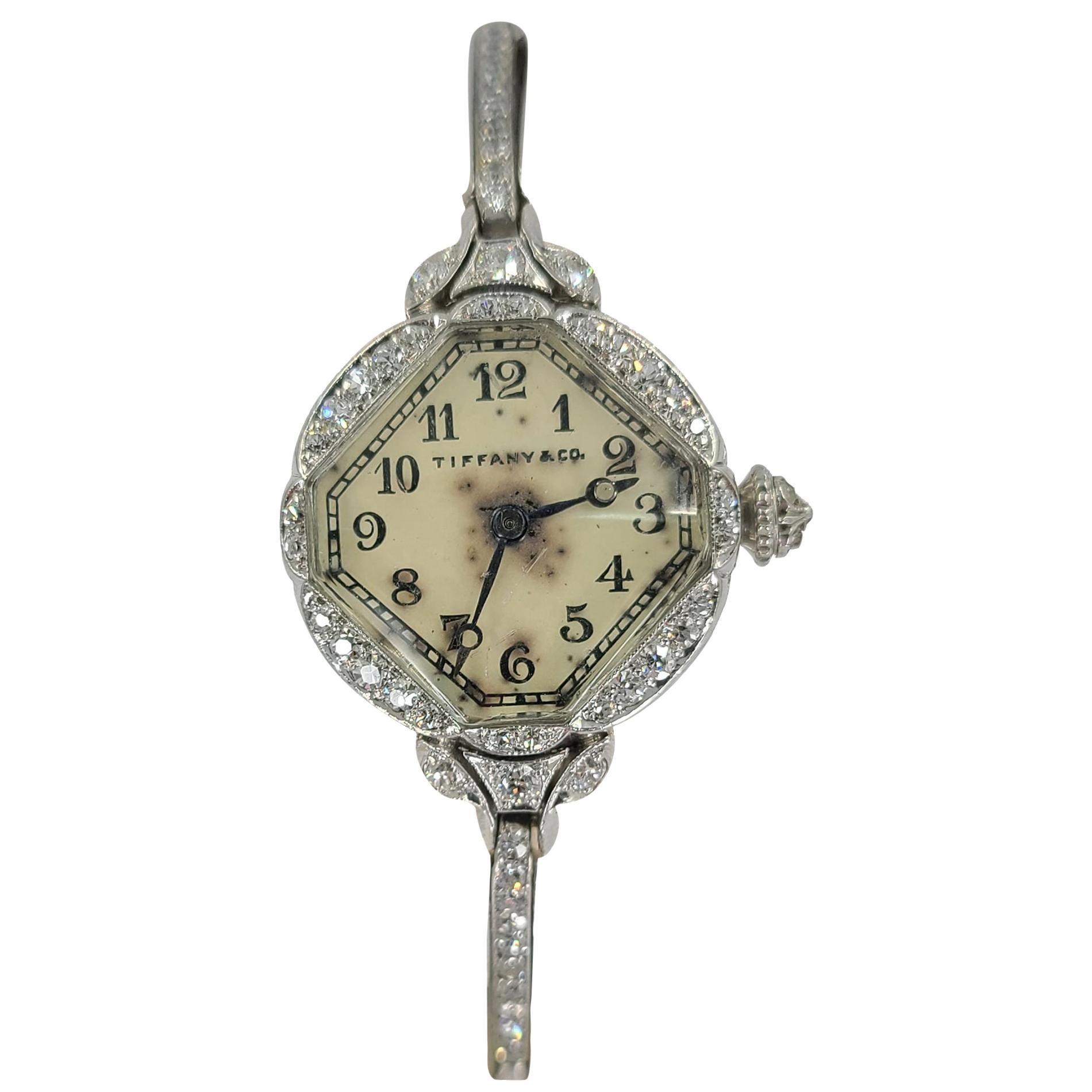 Antique Tiffany & Co. Platinum Ladies Wristwatch