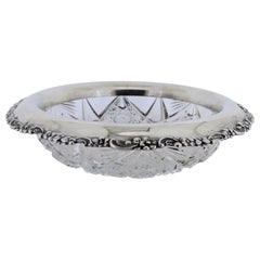 Antique Tiffany & Co. Sterling Silver Mounted Cut Glass Bowl