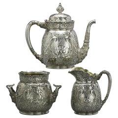Antique Tiffany & Co. Sterling Silver Saracenic Tea Set