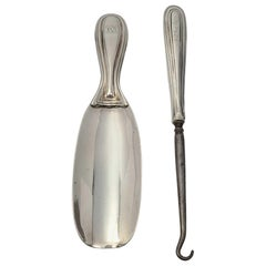 Antique Tiffany & Co Sterling Silver Shoe Horn and Button Hook with Monogram