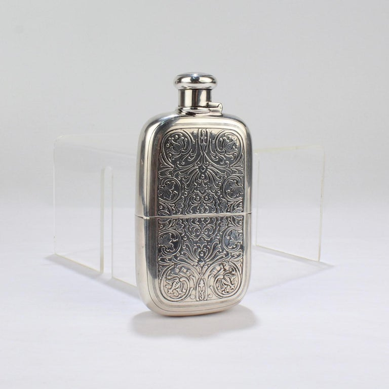 Antique Tiffany And Co Sterling Silver Whiskey Or Liquor