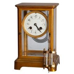 Antique Tiffany & Co Brass and Crystal Regulator Clock, circa 1890