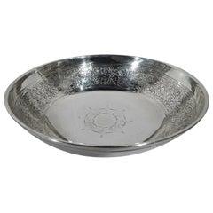 Antique Tiffany Edwardian Gothic Sterling Silver Bowl