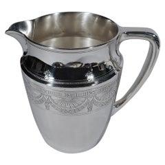 Antique Tiffany Edwardian Regency Sterling Silver Water Pitcher