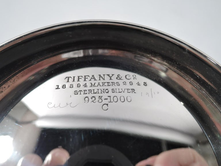 Antique Tiffany Edwardian Sterling Silver Blackberry Bowl For Sale 1