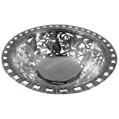 Antique Tiffany Edwardian Sterling Silver Blackberry Bowl