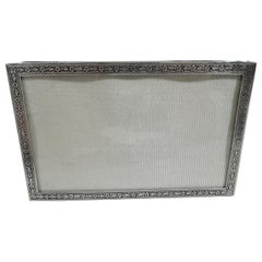 Antique Tiffany Edwardian Sterling Silver Landscape Picture Frame