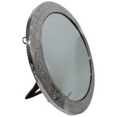 Antique Tiffany Empire Revival Sterling Silver Table Mirror