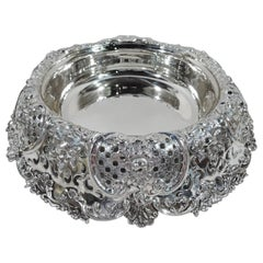 Antique Tiffany Large and Fancy Sterling Silver Centrepiece Bowl