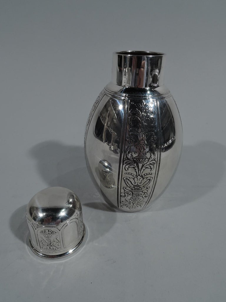 American Antique Tiffany Renaissance Revival Sterling Silver Tea Caddy For Sale