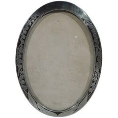 Antique Tiffany Sterling Silver and Copper Forget-Me-Not Picture Frame