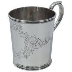 Antique Tiffany Sterling Silver Christening Mug with Early 550 Broadway Mark